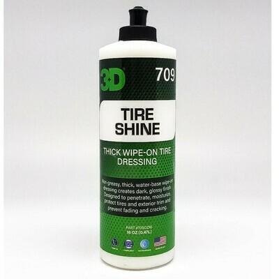 Защитное покрытие для резины и пластика 3D Car Care TIRE SHINE, 470мл