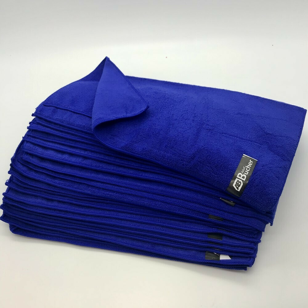 Салфетка из микрофибры Классик Синяя Adolf Bucher 250гр, 40х40см (20шт)