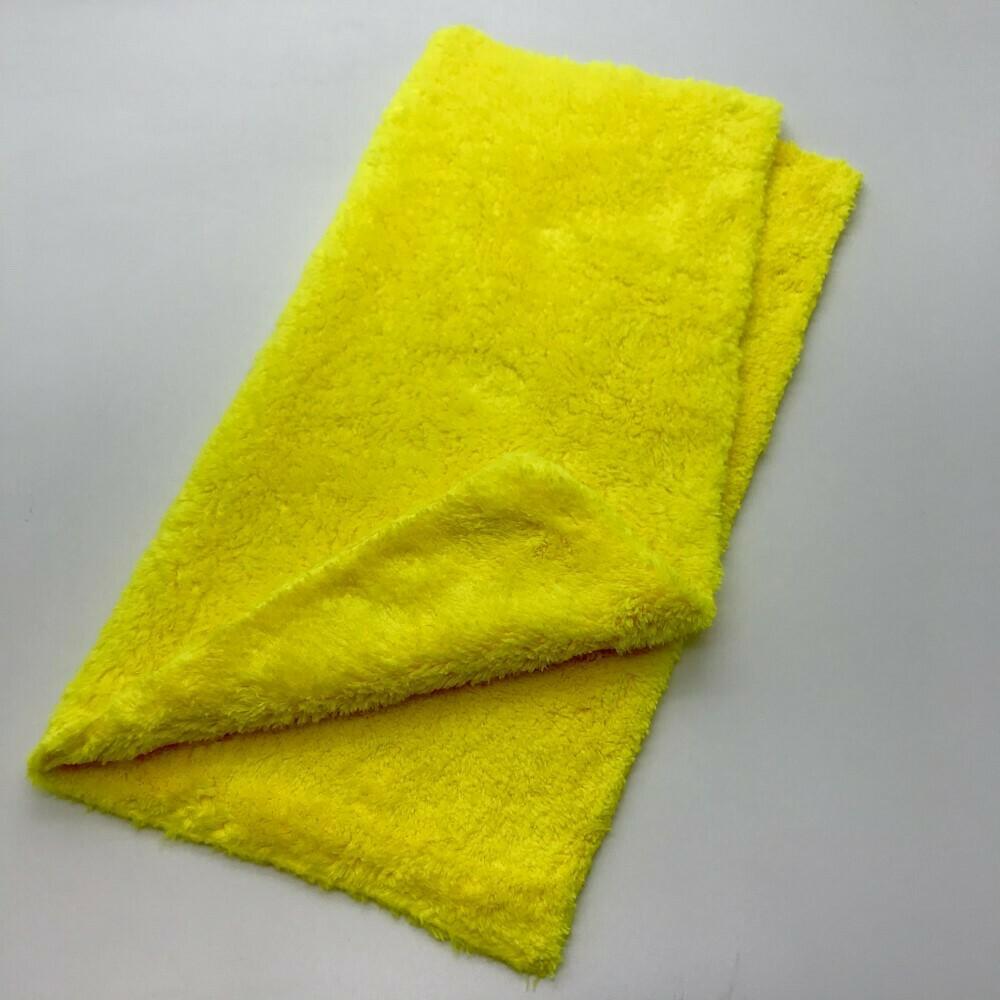 Салфетка бесшовная длинный ворс Желтая Adolf Bucher 550гр, 40х40см