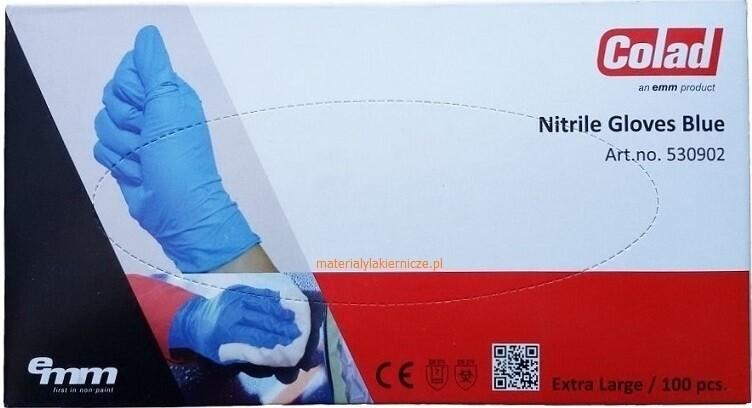 Перчатки нитриловые голубые устойчивые к растворителям Adolf Bucher Colad (100шт), L