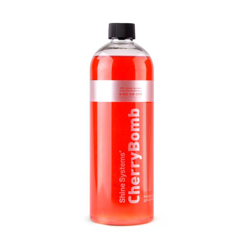 Автошампунь для ручной мойки нейтральный Вишня Shine Systems CherryBomb Shampoo, 750мл