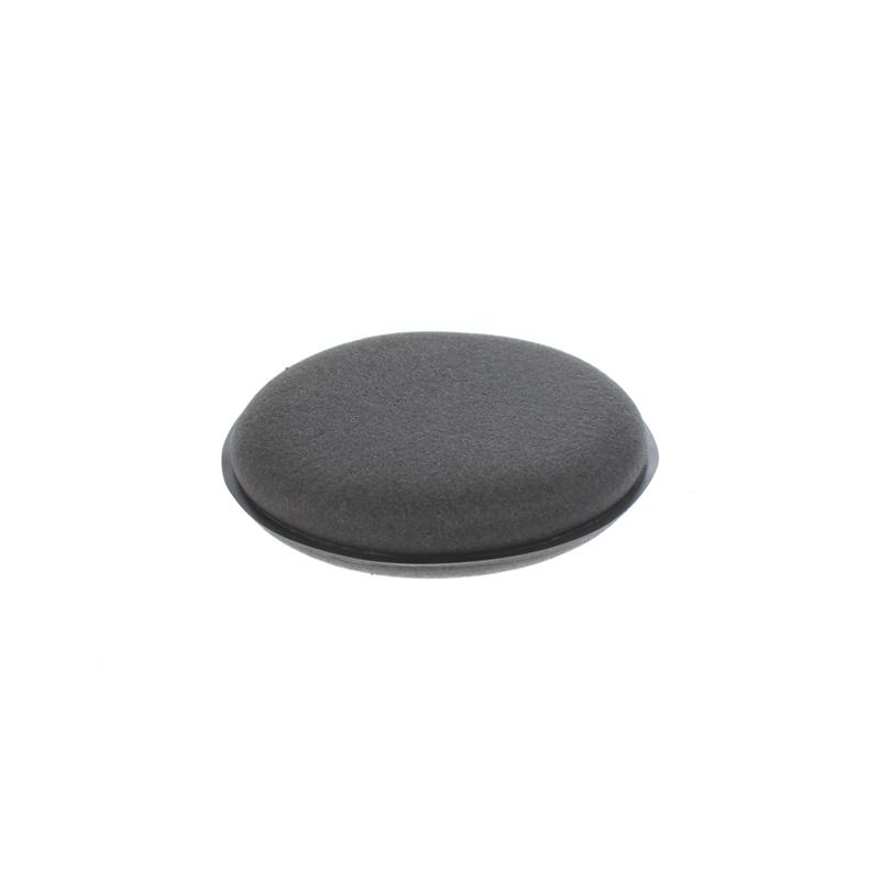 Аппликатор черный поролоновый круглый Shine Systems Wax Pad, 10х2см