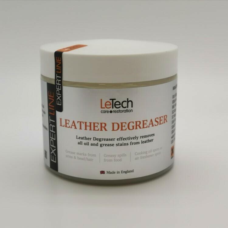 Средство для удаления жирных пятен с кожи LeTech Leather Deagreaser, 380мл