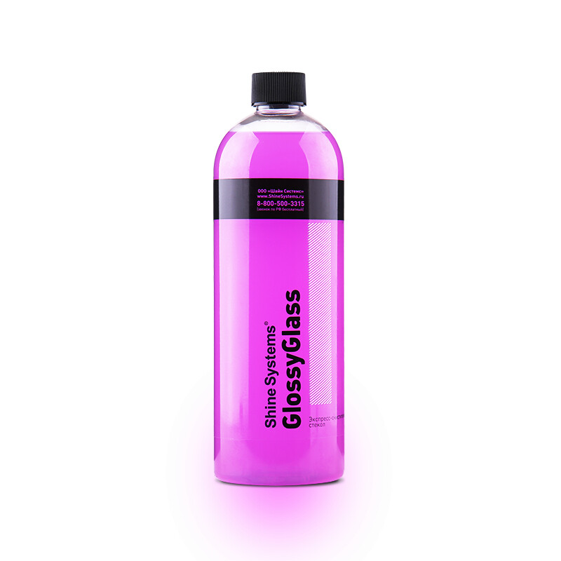 Очиститель стекол без спиртовой экспресс Shine Systems GlossyGlass, 750мл