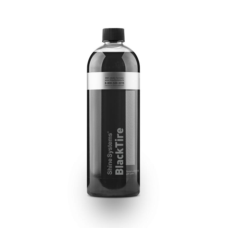 Чернитель резины шин с антистатиком и кондиционером Shine Systems BlackTire, 750мл