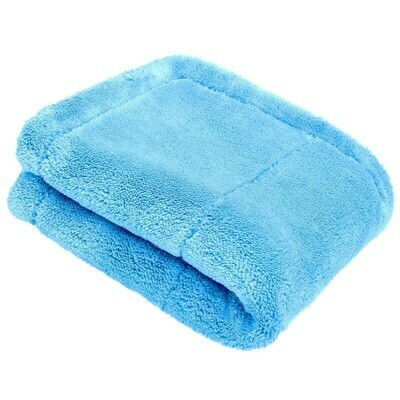 Микрофибровое полотенце без окантовки Люкс для рассполировки Синее PURESTAR Blue Various Buffing Towel, 40х40см