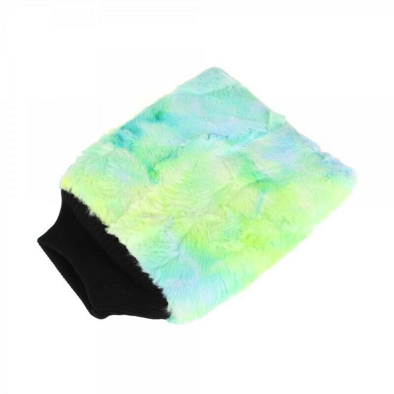 Рукавица для мойки кузова плюшевая особомягкая, Зеленая PURESTAR Color-pop wash mitt, 20x25cm