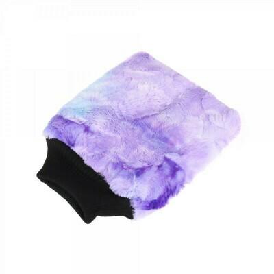 Рукавица для мойки кузова плюшевая особомягкая, Пурпурная PURESTAR Color-pop wash mitt, 20x25cm