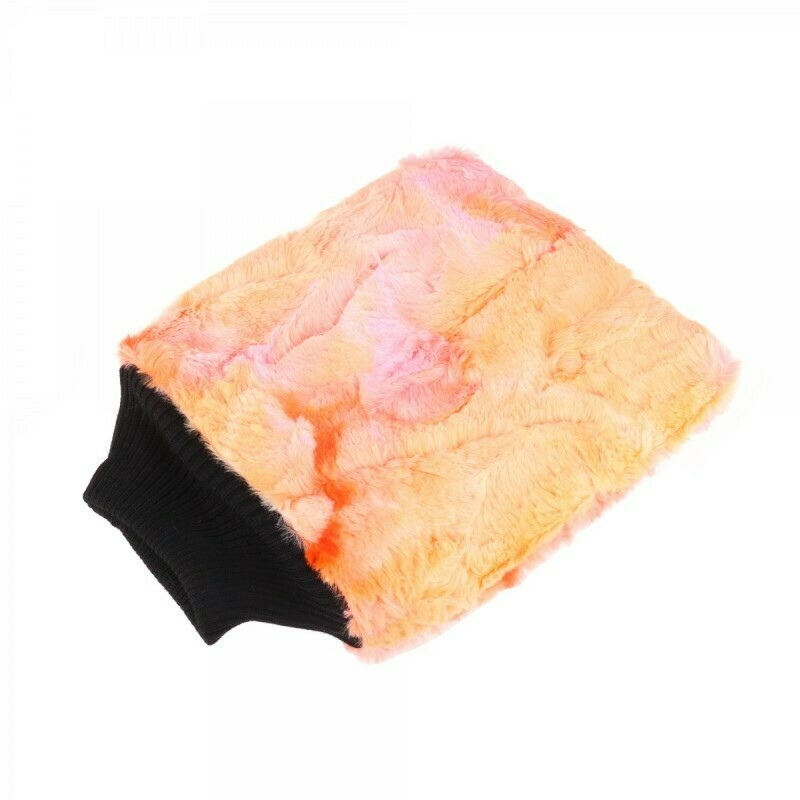 Рукавица для мойки кузова плюшевая особомягкая, Оранжевая PURESTAR Color-pop wash mitt, 20x25cm