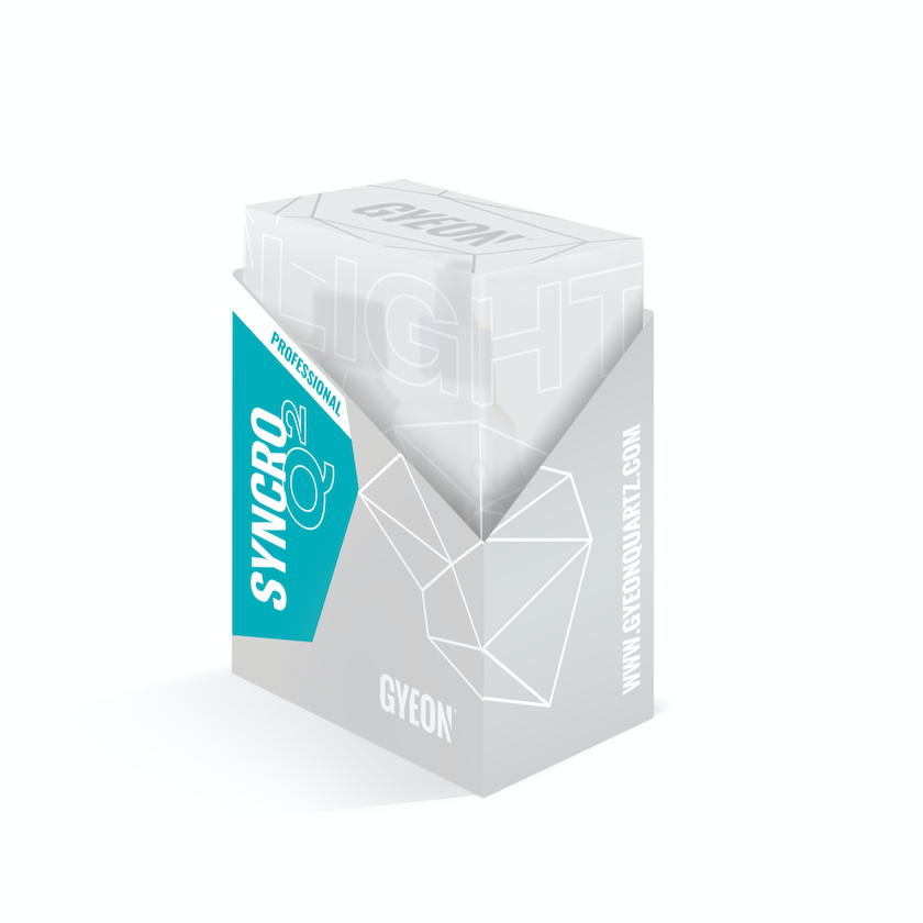 Керамическое покрытие для кузова 9H двухкомпонентное сверх-гладкое до 24 месяца GYEON Q2 SYNCRO Light, 50мл