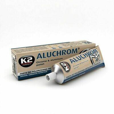 Полировальная паста полироль для металла, хрома K2 ALUCHROM, 120гр