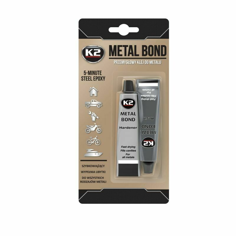 Эпоксидный клей для металла 2-х компонентный K2 METAL BOND, 56гр