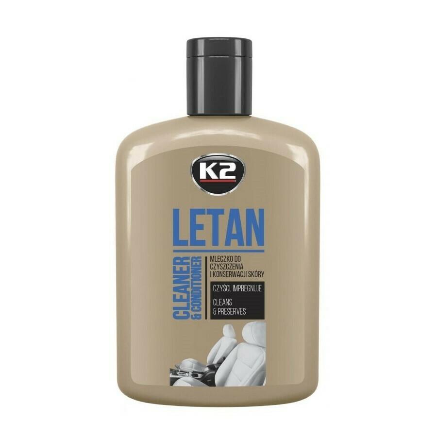 Очиститель кожи автомобиля с кондиционером лосьон K2 LETAN, 200мл