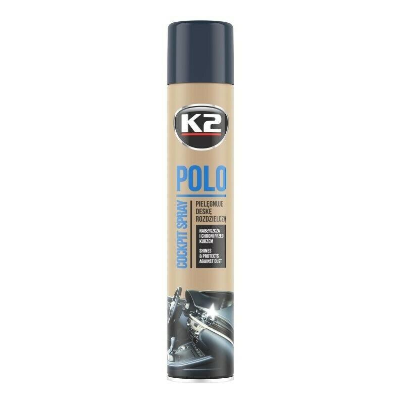 Полироль пластика для автомобиля Мужской парфюм K2 POLO COCKPIT MAN, 750мл