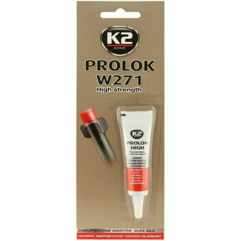 Анаэробный герметик фиксатор резьбовых соединений Красный K2 PROLOK HIGH, 6мл