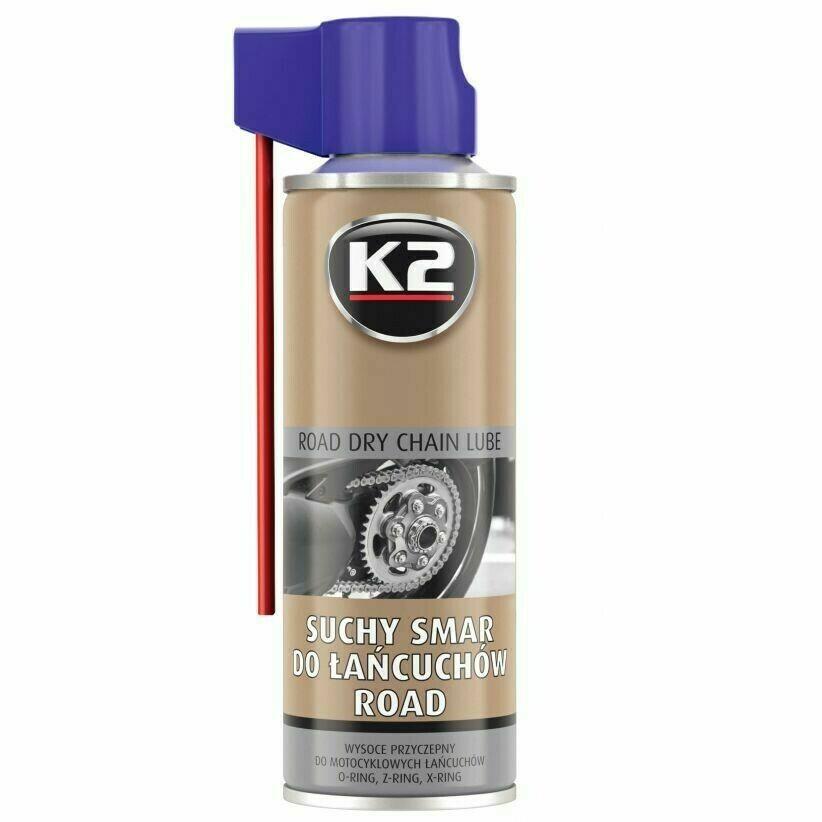 Смазка для цепи сухая K2 ROAD DRY CHAIN LUBE, 400мл