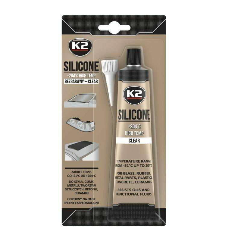 Герметик силиконовый Прозрачный K2 SILICONE CLEAR, 85гр