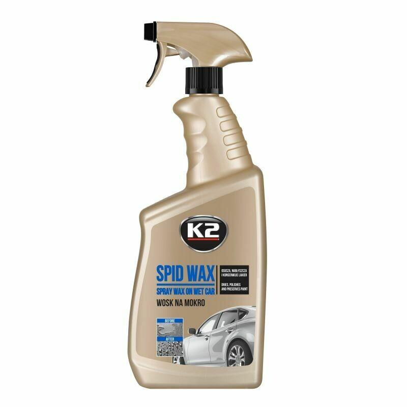 Жидкий воск для сушки кузова с воском и Квик детейлер K2 SPID WAX, 770мл