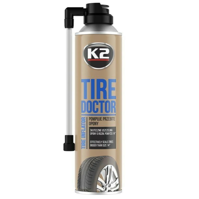 Герметик для шин антипрокол K2 TIRE DOKTOR, 500мл