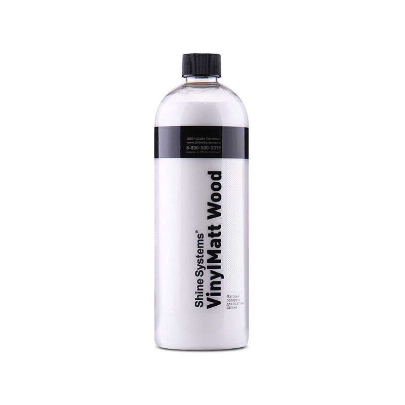 Полироль для пластика матовый парфюм Shine Systems VinylMatt Wood, 750мл