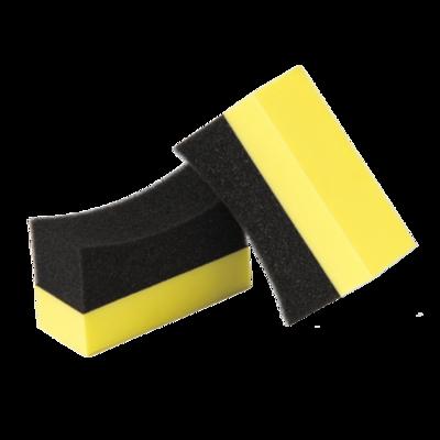 Губка для чернения шин резины полукругая LERATON APP4