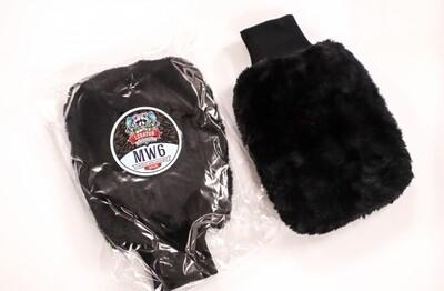 Варежка для мойки из искусственного меха LERATON MW6 BLACK WOOL MITT