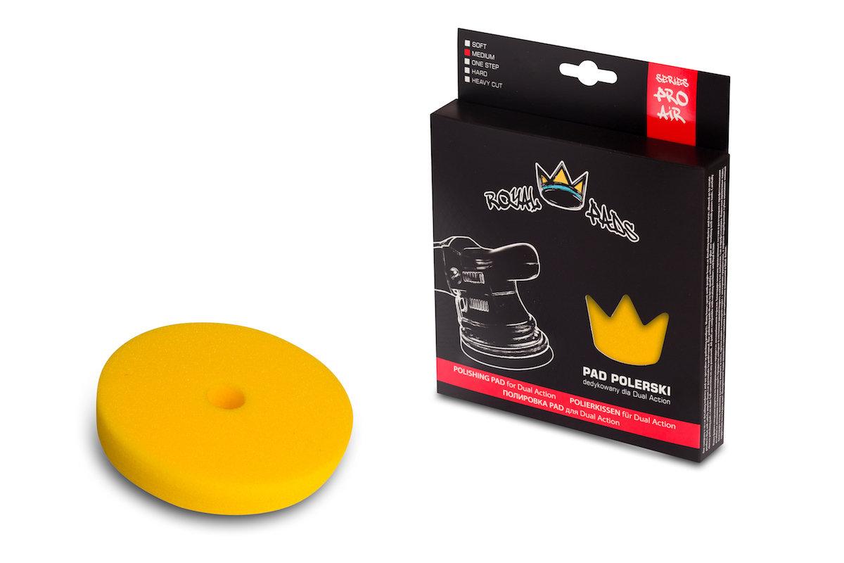 Полировальный круг Средней твердости Низкопрофильный ROYAL PADS THIN MEDIUM Желтый (150мм)