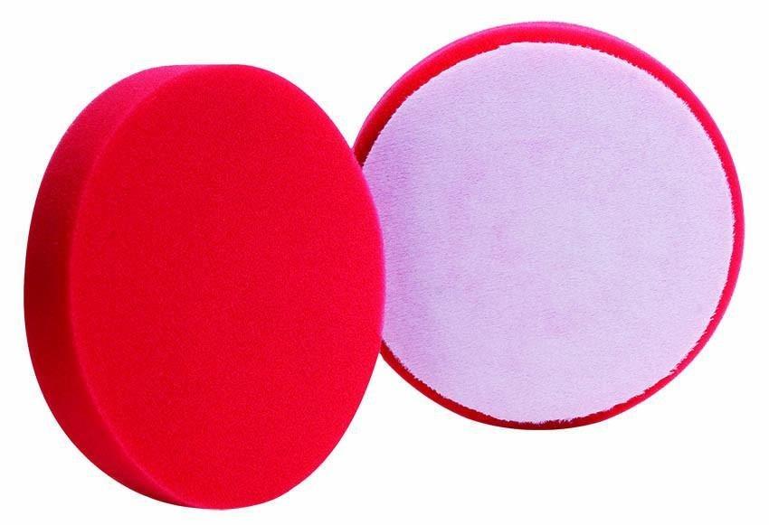 Полировальный круг плоский Очень мягкий BUFF&SHINE Финишный КРАСНЫЙ (130мм)