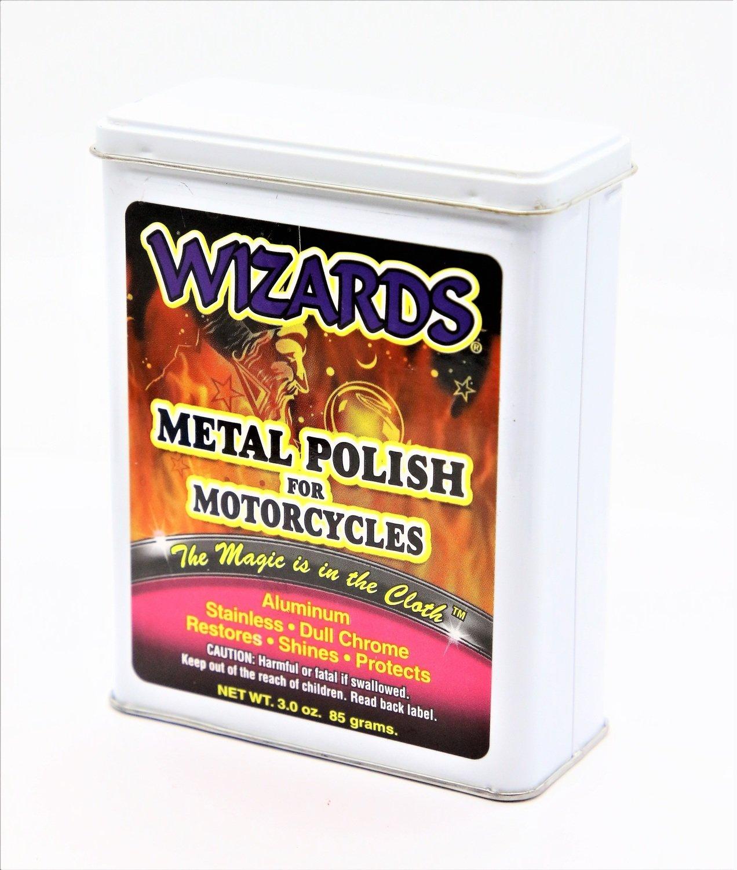 Вата для очистки металла и хрома мотоциклов WIZARD'S METAL POLISH FOR MOTORCYCLES (85гр)