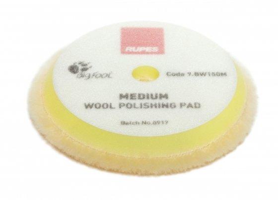 Меховой круг Мягкий из натуральной овчины RUPES Желтый (130мм)
