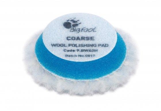 Меховой круг Грубый из натуральной овчины RUPES iBrid Синий (30мм)
