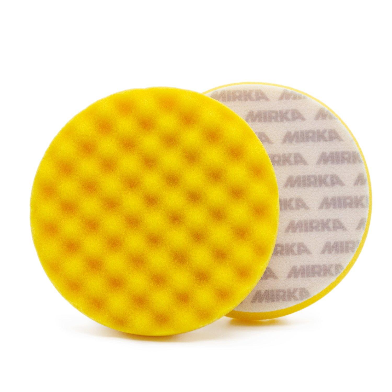 Полировальный круг Средней твердости рельефный MIRKA Желтый (150мм)