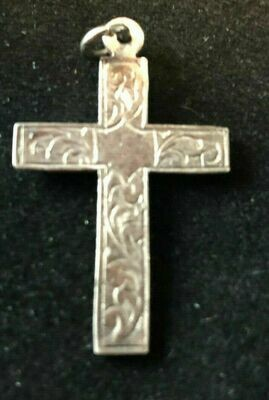 Vintage Sterling silver crucifix circa 1960's