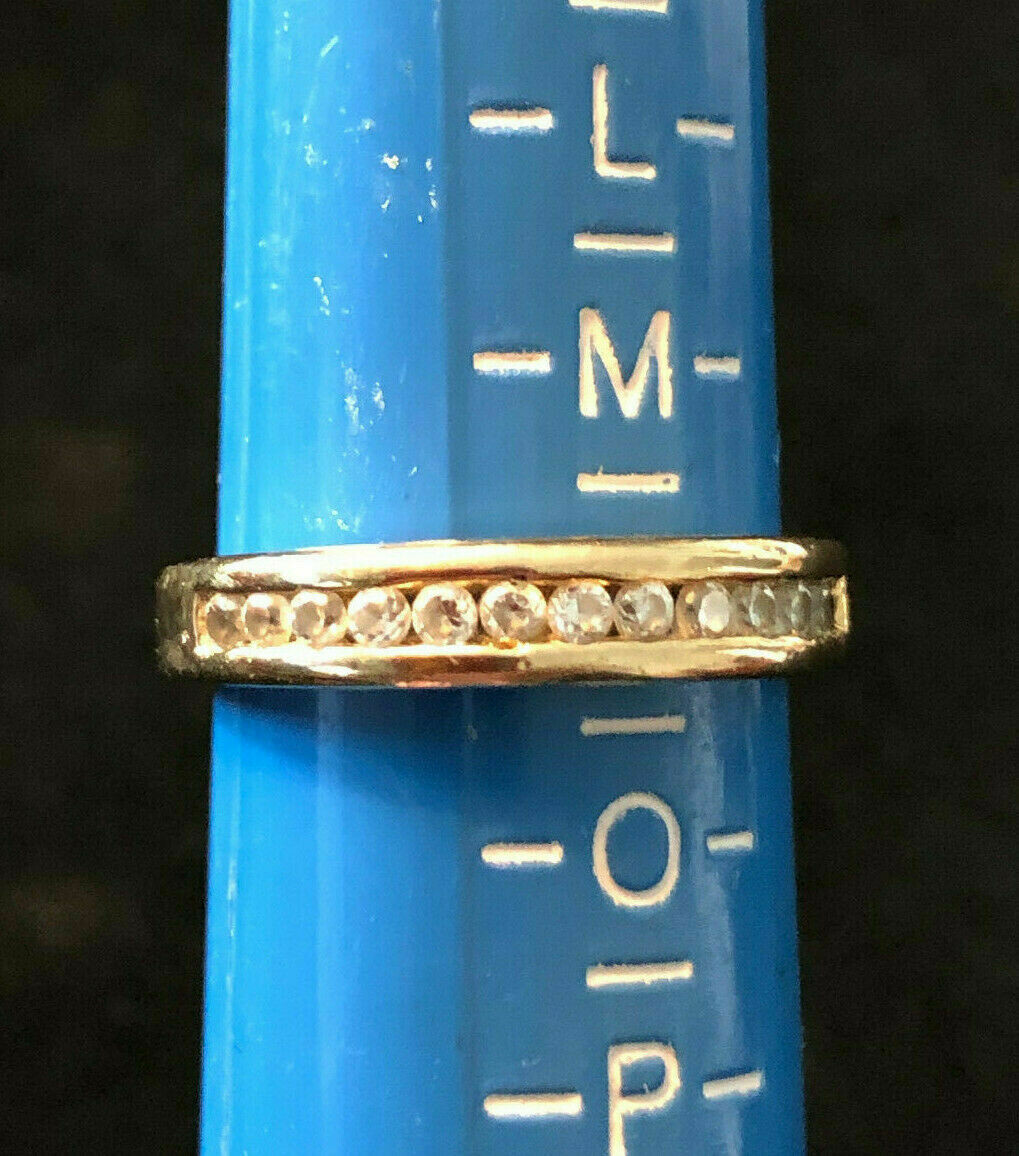 Vintage .925 silver ring with cubic zirconias - probably late 80/s early 90's