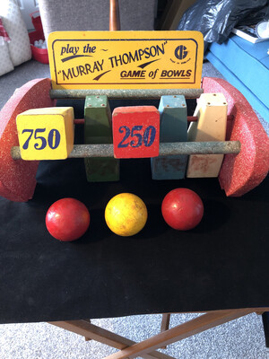 Vintage Murray Thompson Bowling Alley Game - wonderful condition and very rare