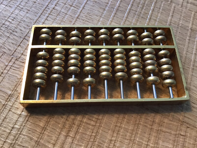 Brass ornamental abacus - in lovely condition