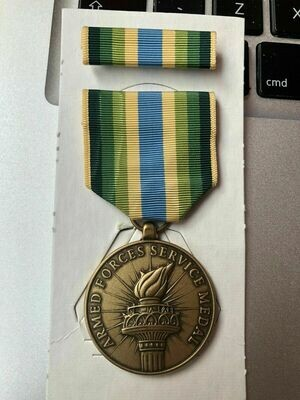US ARMED FORCES SERVICE MEDAL with ribbon circa 1995