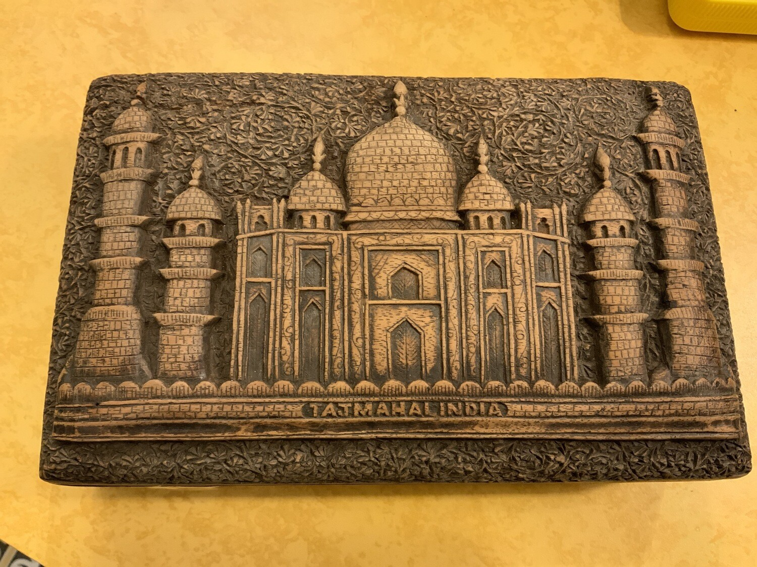 Indian Carved Cigarette Box - Probably 1930's