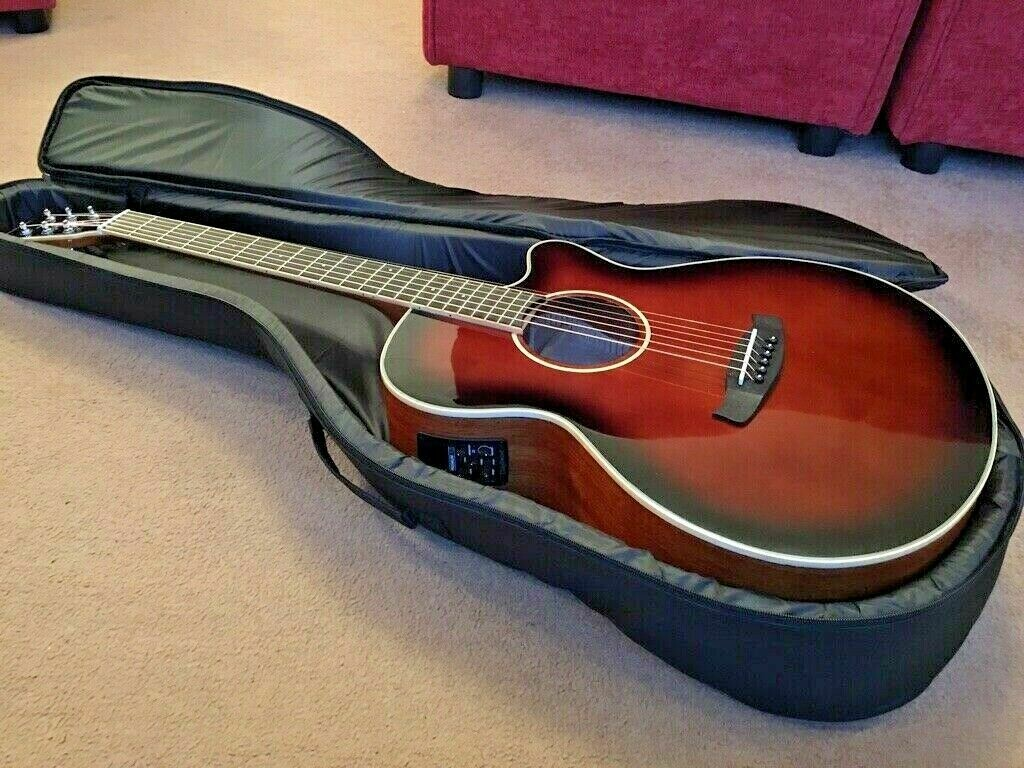 Tanglewood Whiskey Barrel Gloss Electro Acoustic Guitar and padded gig bag