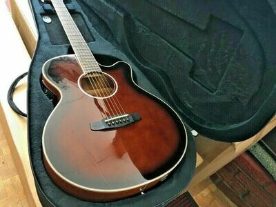 Tanglewood Whiskey Barrel Gloss Electro Acoustic Guitar and Rigid Foam Case