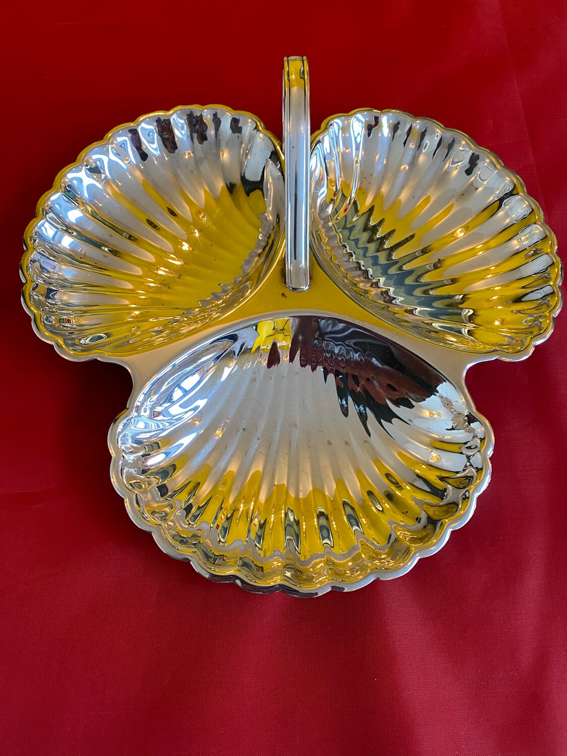 Silver Plated Scallop Dish - Electro Plated Copper