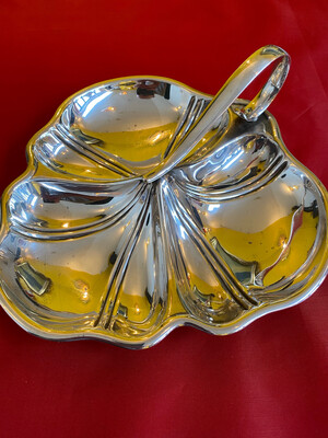 Silver Plated Arts & Crafts Style Plated Serving Platter