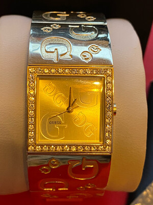 Ladies Guess Watch - Beautiful And Heavy Link Watch (boxed)