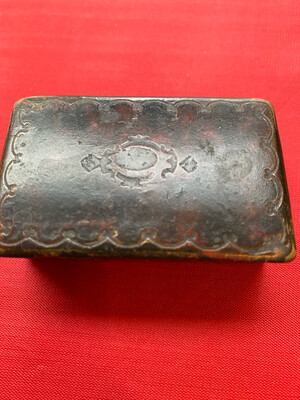 Small Wooden Snuff Box - Circa Late 1800's (possibly Earlier)