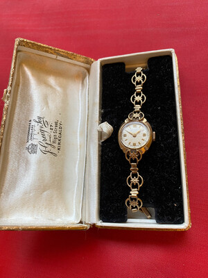 Rare And Beautiful Ladies Gold Rotary Watch - 9ct Gold 1959