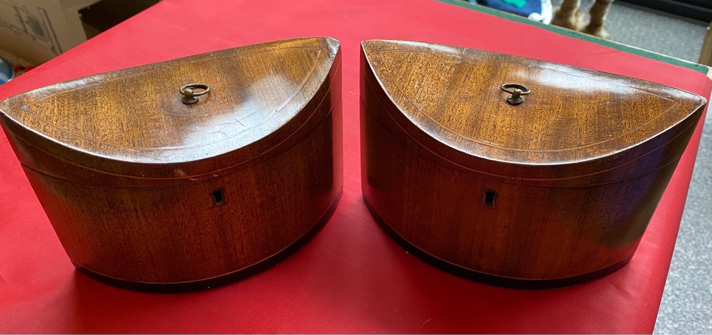 Pair Of Art Deco Tea Caddies - In Great Condition