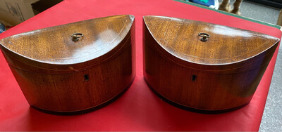 Pair Of Art Deco Tea Caddies - In Great Condition