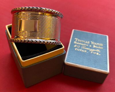 Silver Napkin Ring - Birmingham 1940 Hallmark In Original Box