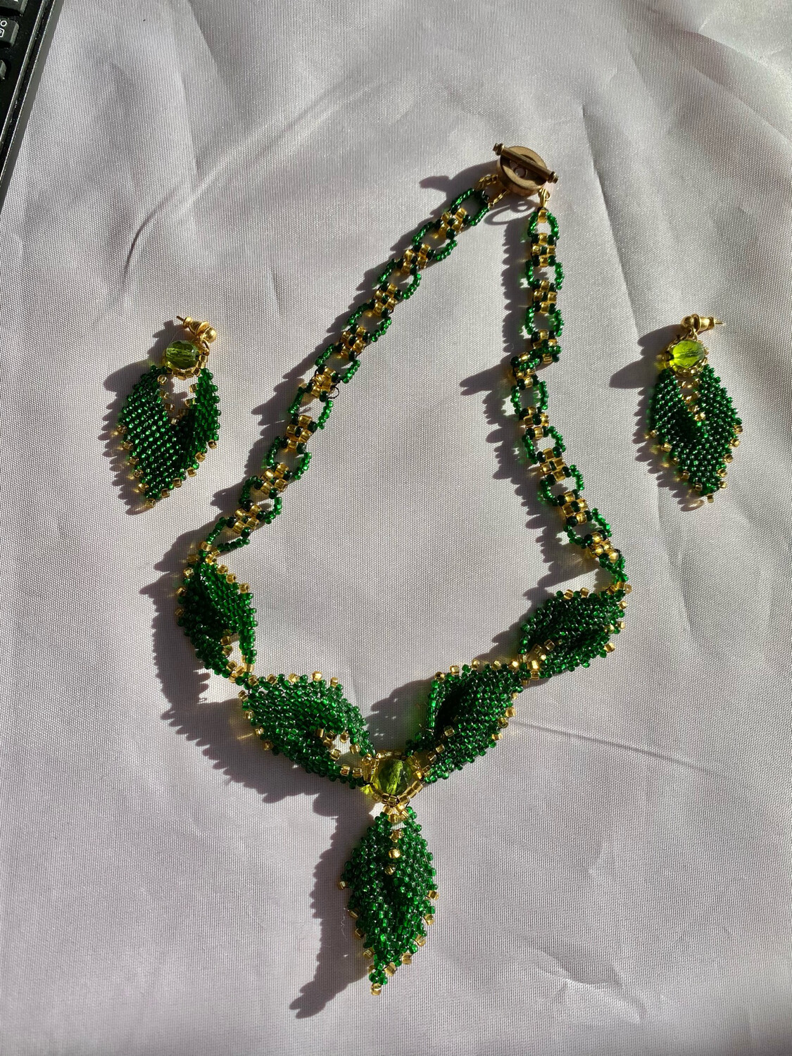 Hand Made Necklace And Earrings Set - Delicate Beads And Beautiful Design