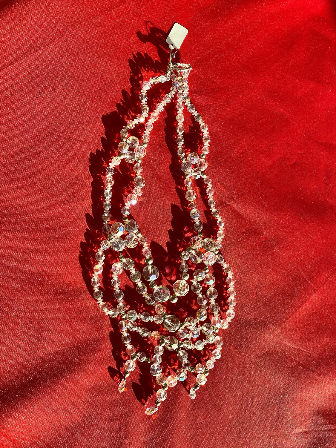 Hand Made Multi Strand Glass Necklace